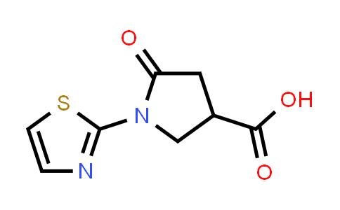 5-Oxo-1-(1,3-thiazol-2-yl)pyrrolidine-3-carboxylic acid