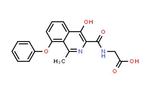 2-(4-Hydroxy-1-methyl-8-phenoxyisoquinoline-3-carboxamido)acetic acid