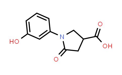 1-(3-Hydroxyphenyl)-5-oxopyrrolidine-3-carboxylic acid