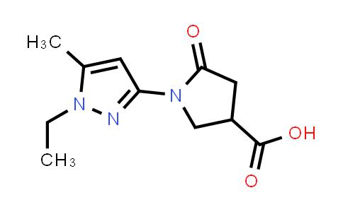 1-(1-Ethyl-5-methyl-1H-pyrazol-3-yl)-5-oxopyrrolidine-3-carboxylic acid