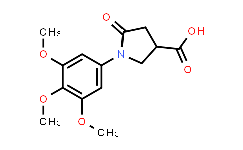5-Oxo-1-(3,4,5-trimethoxyphenyl)pyrrolidine-3-carboxylic acid