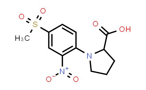 1-(4-(Methylsulfonyl)-2-nitrophenyl)pyrrolidine-2-carboxylic acid