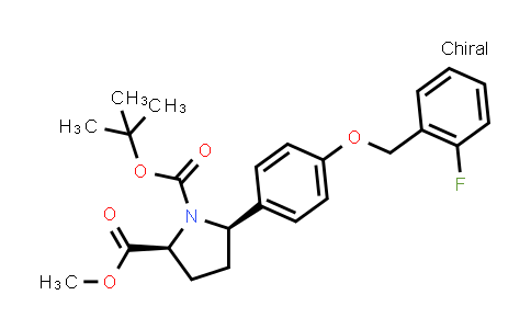 (2S,5R)-1-tert-Butyl 2-methyl 5-(4-((2-fluorobenzyl)oxy)phenyl)pyrrolidine-1,2-dicarboxylate