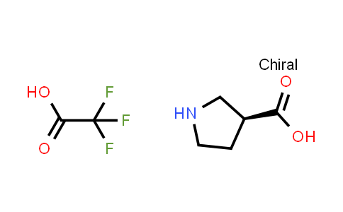 (S)-Pyrrolidine-3-carboxylic acid compound with 2,2,2-trifluoroacetic acid (1:1)