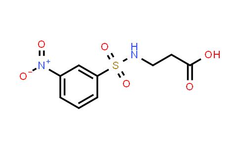3-(3-Nitrophenylsulfonamido)propanoic acid