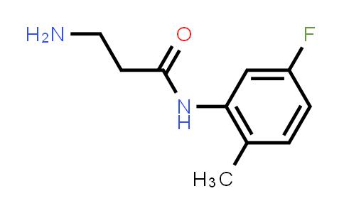 3-Amino-N-(5-fluoro-2-methylphenyl)propanamide
