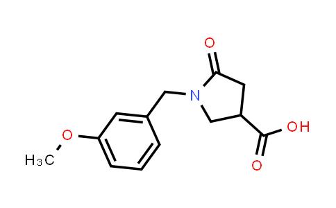 1-(3-Methoxybenzyl)-5-oxopyrrolidine-3-carboxylic acid
