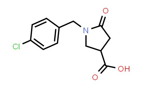 1-(4-Chlorobenzyl)-5-oxopyrrolidine-3-carboxylic acid