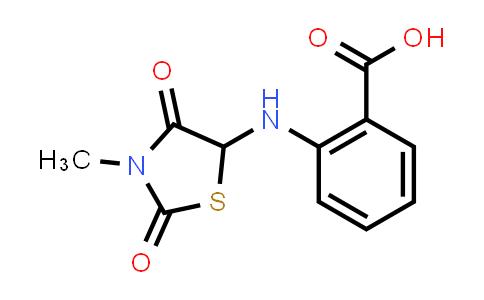2-((3-Methyl-2,4-dioxothiazolidin-5-yl)amino)benzoic acid