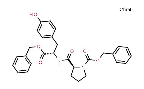 (S)-Benzyl 2-(((S)-1-(benzyloxy)-3-(4-hydroxyphenyl)-1-oxopropan-2-yl)carbamoyl)pyrrolidine-1-carboxylate