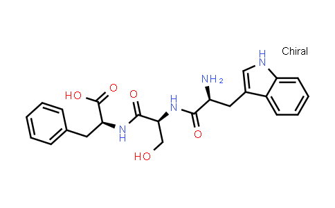 (S)-2-((S)-2-((S)-2-Amino-3-(1H-indol-3-yl)propanamido)-3-hydroxypropanamido)-3-phenylpropanoic acid