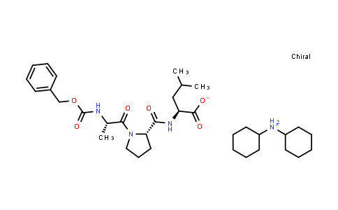 Dicyclohexylammonium (S)-2-((S)-1-((S)-2-(((benzyloxy)carbonyl)amino)propanoyl)pyrrolidine-2-carboxamido)-4-methylpentanoate