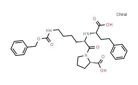 (S)-1-((S)-6-(((Benzyloxy)carbonyl)amino)-2-(((S)-1-carboxy-3-phenylpropyl)amino)hexanoyl)pyrrolidine-2-carboxylic acid
