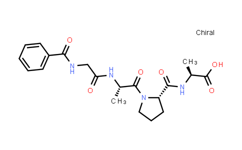 (S)-2-((S)-1-((S)-2-(2-Benzamidoacetamido)propanoyl)pyrrolidine-2-carboxamido)propanoic acid