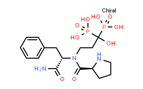 (3-((S)-N-((S)-1-Amino-1-oxo-3-phenylpropan-2-yl)pyrrolidine-2-carboxamido)-1-hydroxypropane-1,1-diyl)diphosphonic acid