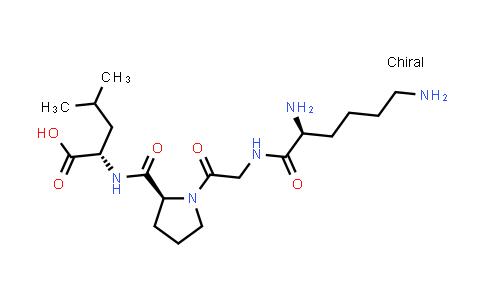 (S)-2-((S)-1-(2-((S)-2,6-Diaminohexanamido)acetyl)pyrrolidine-2-carboxamido)-4-methylpentanoic acid