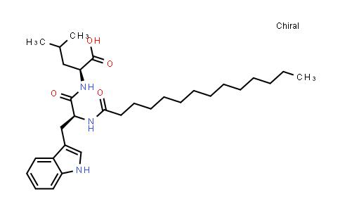 (S)-2-((S)-3-(1H-Indol-3-yl)-2-tetradecanamidopropanamido)-4-methylpentanoic acid