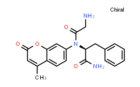 (S)-2-(2-Amino-N-(4-methyl-2-oxo-2H-chromen-7-yl)acetamido)-3-phenylpropanamide