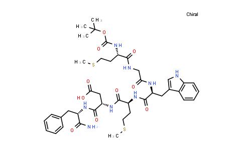 Caerulein, 1-de(5-oxo-L-proline)-2-de-L-glutamine-3-de-L-aspartic acid-4-de-L-tyrosine-5-(N-carboxy-L-methionine)-, 5-tert-butyl ester