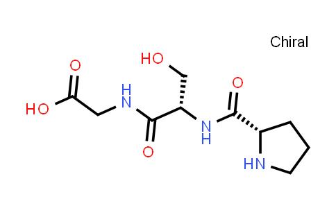 2-((S)-3-Hydroxy-2-((S)-pyrrolidine-2-carboxamido)propanamido)acetic acid
