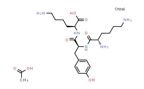 (S)-6-Amino-2-((S)-2-((S)-2,6-diaminohexanamido)-3-(4-hydroxyphenyl)propanamido)hexanoic acid compound with acetic acid (1:1)