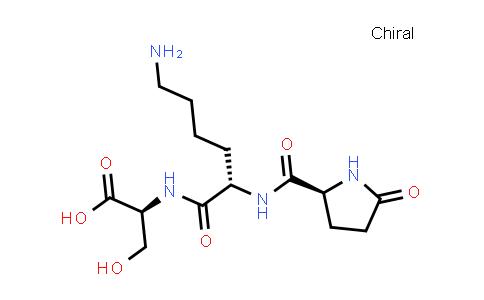 (S)-2-((S)-6-Amino-2-((S)-5-oxopyrrolidine-2-carboxamido)hexanamido)-3-hydroxypropanoic acid