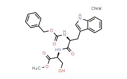 (S)-Methyl 2-((S)-2-(((benzyloxy)carbonyl)amino)-3-(1H-indol-3-yl)propanamido)-3-hydroxypropanoate