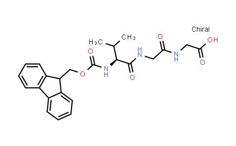 (S)-1-(9H-Fluoren-9-yl)-5-isopropyl-3,6,9-trioxo-2-oxa-4,7,10-triazadodecan-12-oic acid