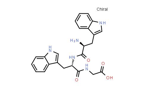 2-((S)-2-((S)-2-Amino-3-(1H-indol-3-yl)propanamido)-3-(1H-indol-3-yl)propanamido)acetic acid