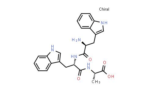 (S)-2-((S)-2-((S)-2-Amino-3-(1H-indol-3-yl)propanamido)-3-(1H-indol-3-yl)propanamido)propanoic acid