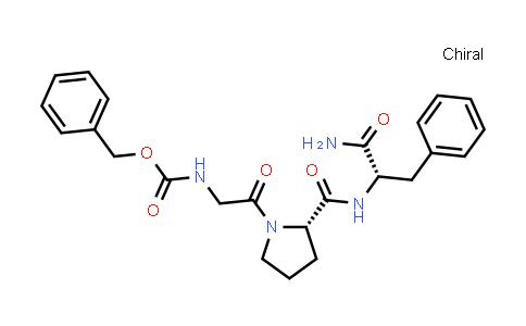 Benzyl (2-((S)-2-(((S)-1-amino-1-oxo-3-phenylpropan-2-yl)carbamoyl)pyrrolidin-1-yl)-2-oxoethyl)carbamate