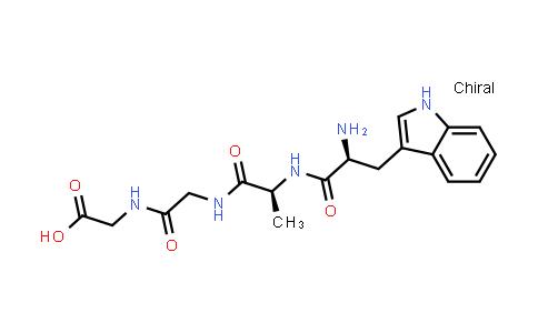 2-(2-((S)-2-((S)-2-Amino-3-(1H-indol-3-yl)propanamido)propanamido)acetamido)acetic acid