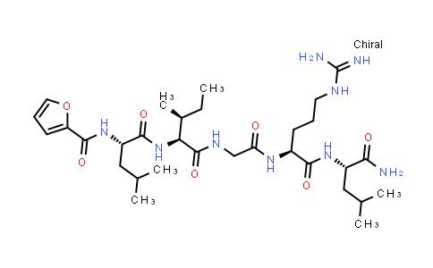 N-(2-Furanylcarbonyl)-L-leucyl-L-isoleucylglycyl-L-arginyl-L-leucinamide