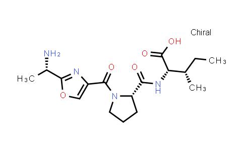 1-[[2-[(1S)-1-Aminoethyl]-4-oxazolyl]carbonyl]-L-prolyl-L-isoleucine