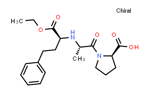 (R)-1-((S)-2-(((S)-1-Ethoxy-1-oxo-4-phenylbutan-2-yl)amino)propanoyl)pyrrolidine-2-carboxylic acid