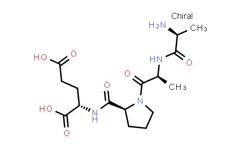 (S)-2-((S)-1-((S)-2-((S)-2-Aminopropanamido)propanoyl)pyrrolidine-2-carboxamido)pentanedioic acid