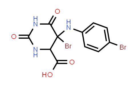 5-Bromo-5-((4-bromophenyl)amino)-2,6-dioxohexahydropyrimidine-4-carboxylic acid