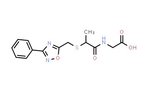 2-(2-(((3-Phenyl-1,2,4-oxadiazol-5-yl)methyl)thio)propanamido)acetic acid