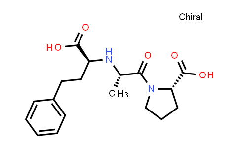 (S)-1-((S)-2-(((S)-1-Carboxy-3-phenylpropyl)amino)propanoyl)pyrrolidine-2-carboxylic acid