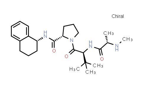 (S)-1-((S)-3,3-Dimethyl-2-((S)-2-(methylamino)propanamido)butanoyl)-N-((R)-1,2,3,4-tetrahydronaphthalen-1-yl)pyrrolidine-2-carboxamide