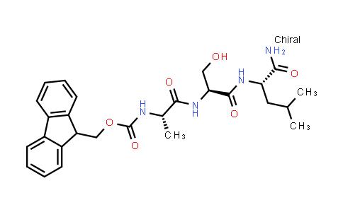 (9H-Fluoren-9-yl)methyl ((S)-1-(((S)-1-(((S)-1-amino-4-methyl-1-oxopentan-2-yl)amino)-3-hydroxy-1-oxopropan-2-yl)amino)-1-oxopropan-2-yl)carbamate