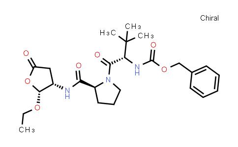 Benzyl ((S)-1-((S)-2-(((2R,3S)-2-ethoxy-5-oxotetrahydrofuran-3-yl)carbamoyl)pyrrolidin-1-yl)-3,3-dimethyl-1-oxobutan-2-yl)carbamate