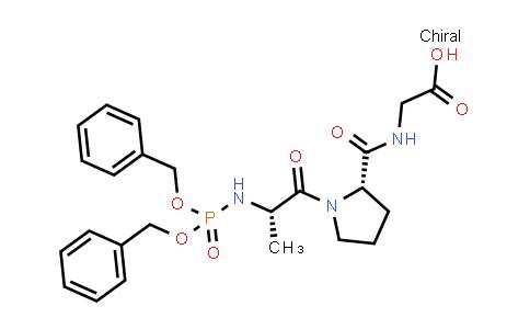 2-((S)-1-((S)-2-((Bis(benzyloxy)phosphoryl)amino)propanoyl)pyrrolidine-2-carboxamido)acetic acid