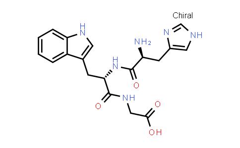 2-((S)-2-((S)-2-Amino-3-(1H-imidazol-4-yl)propanamido)-3-(1H-indol-3-yl)propanamido)acetic acid