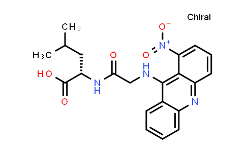(S)-4-Methyl-2-(2-((1-nitroacridin-9-yl)amino)acetamido)pentanoic acid