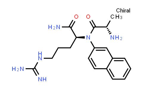 (S)-2-((S)-2-Amino-N-(naphthalen-2-yl)propanamido)-5-guanidinopentanamide