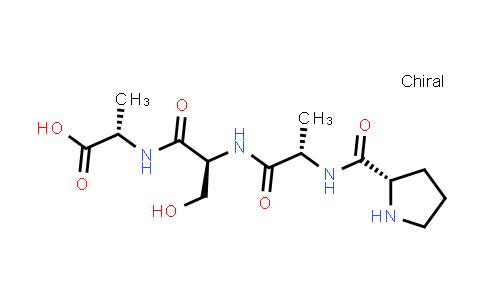 (S)-2-((S)-3-Hydroxy-2-((S)-2-((S)-pyrrolidine-2-carboxamido)propanamido)propanamido)propanoic acid