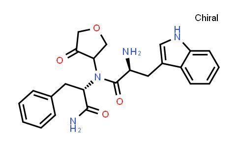 (2S)-2-Amino-N-((S)-1-amino-1-oxo-3-phenylpropan-2-yl)-3-(1H-indol-3-yl)-N-(4-oxotetrahydrofuran-3-yl)propanamide