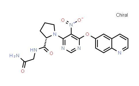 (S)-N-(2-Amino-2-oxoethyl)-1-(5-nitro-6-(quinolin-6-yloxy)pyrimidin-4-yl)pyrrolidine-2-carboxamide