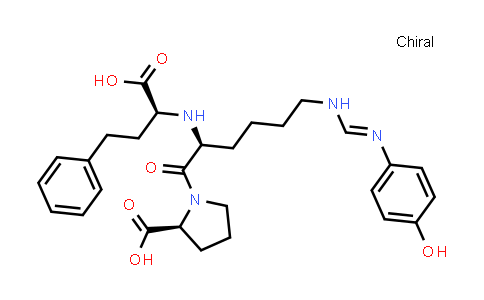 (S)-1-((S)-2-(((S)-1-Carboxy-3-phenylpropyl)amino)-6-(N'-(4-hydroxyphenyl)formimidamido)hexanoyl)pyrrolidine-2-carboxylic acid